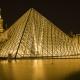 Immagine di notte del Louvre