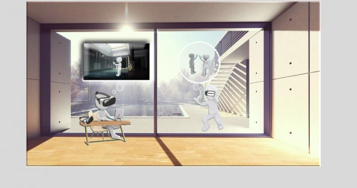 Icona che rappresenta la realtà virtuale con visore
