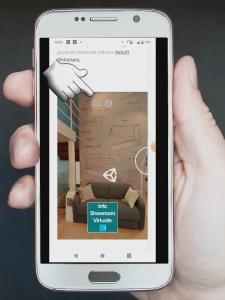 Immagine di utilizzo tour virtuale da smartphone